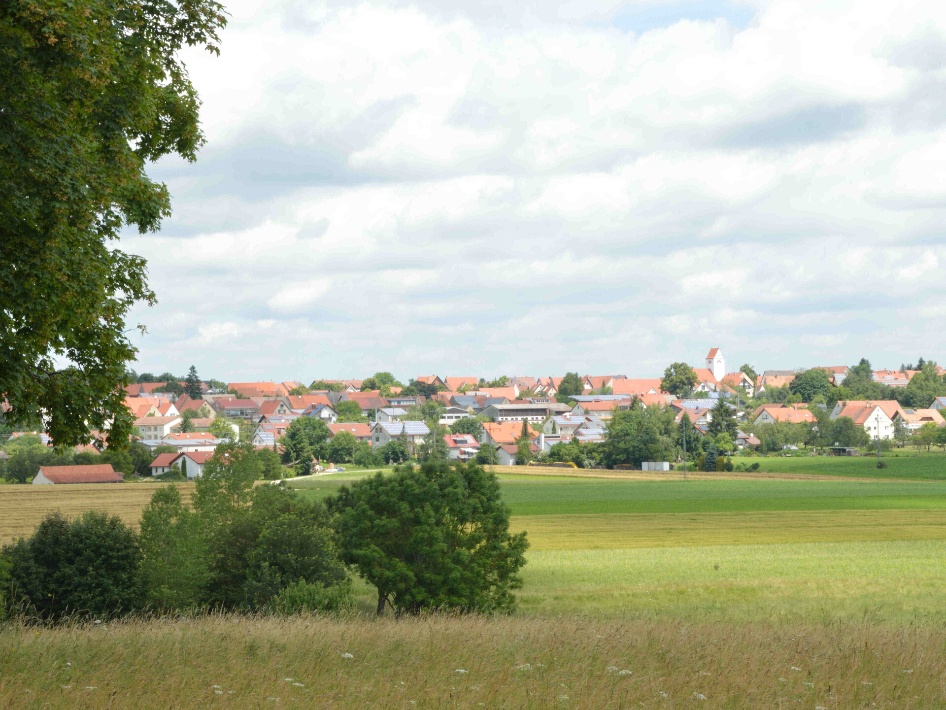 Landschaft-Ortsansicht