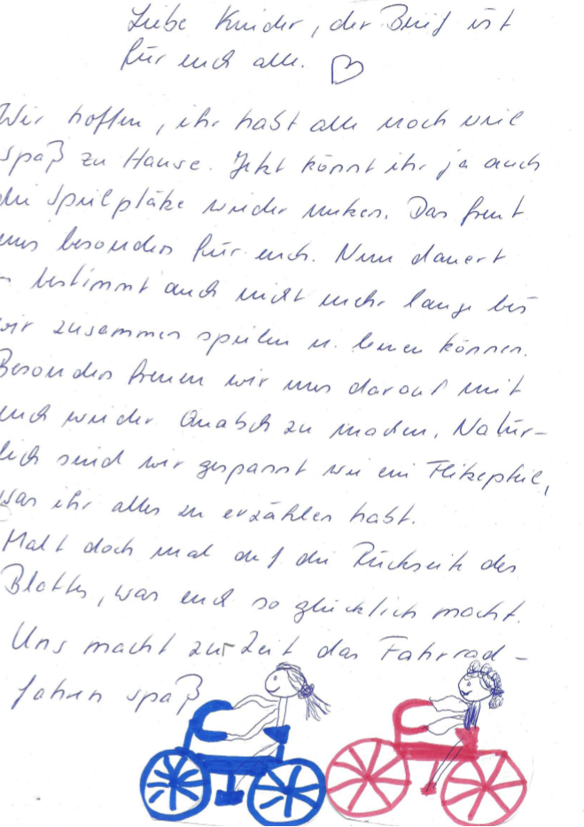 Brief an die Kinder