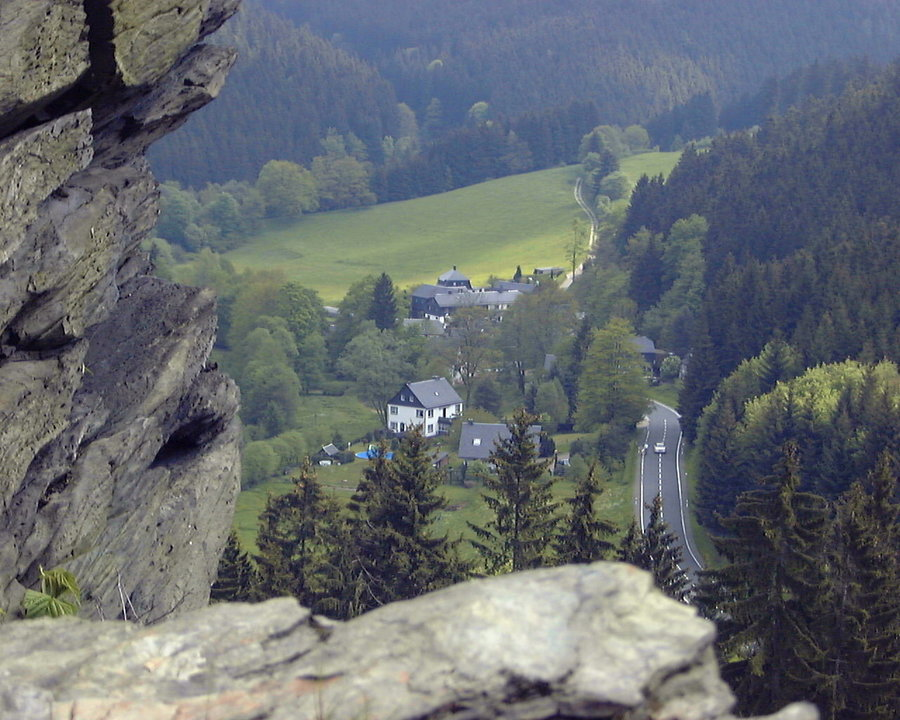 Blick auf den Ortsteil Klettigshammer