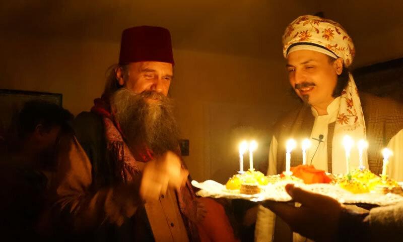 Sheik mit Kerzen