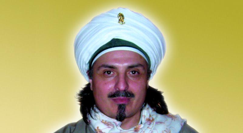 Sheik vor Hintergrund