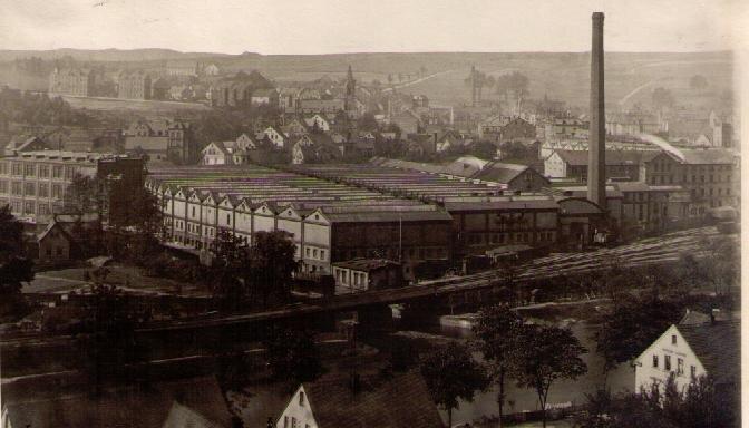 Kammgarnspinnerei um 1905