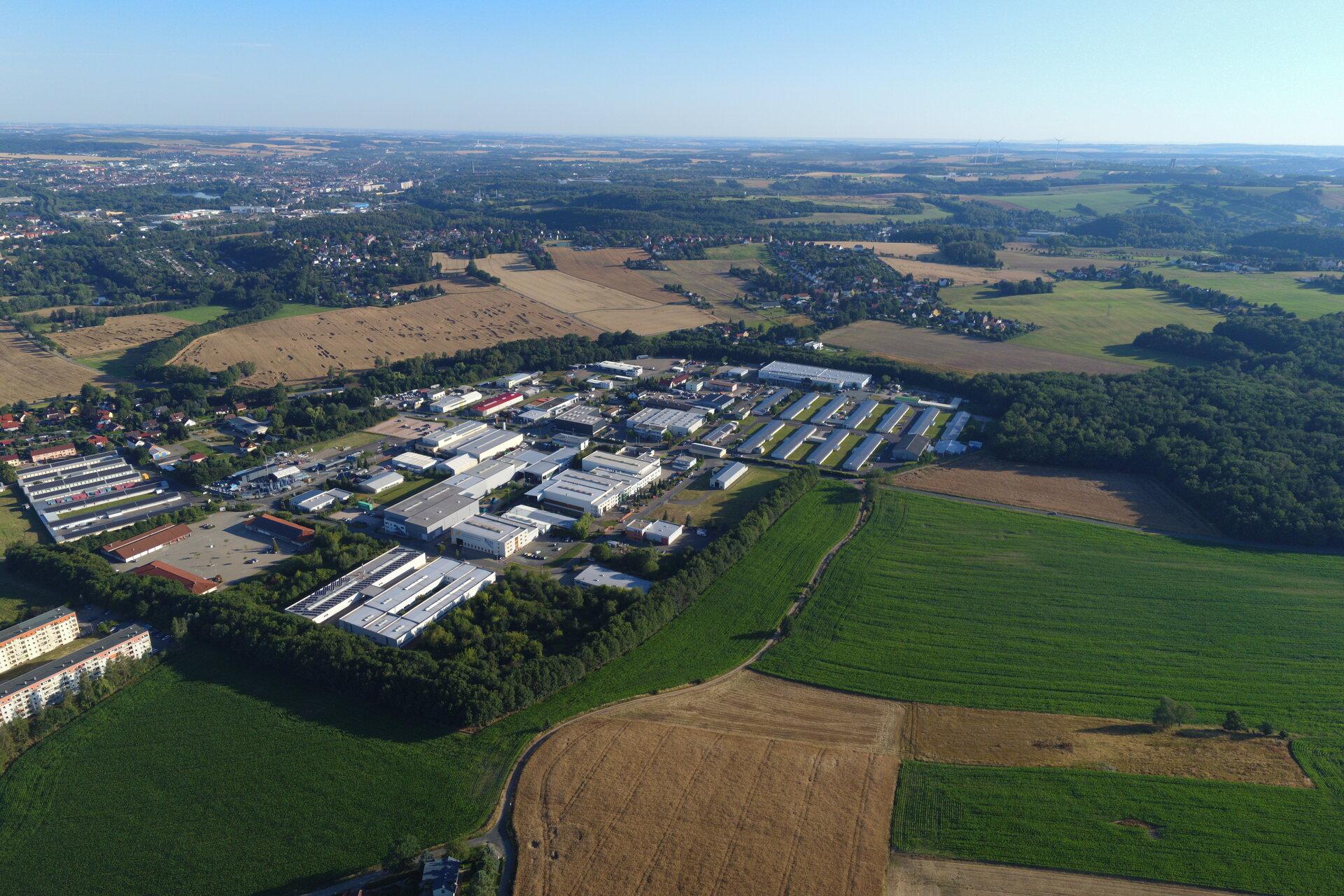 Blick aufs Gewerbegebiet (c) FFW Wilkau-Haßlau