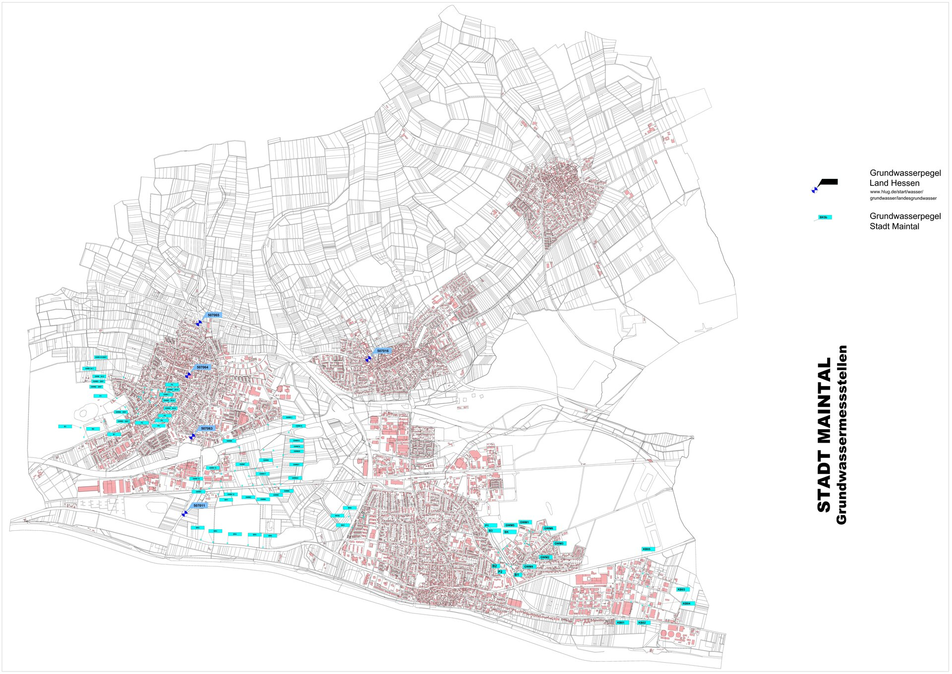 Karte Grundwassermessstellen