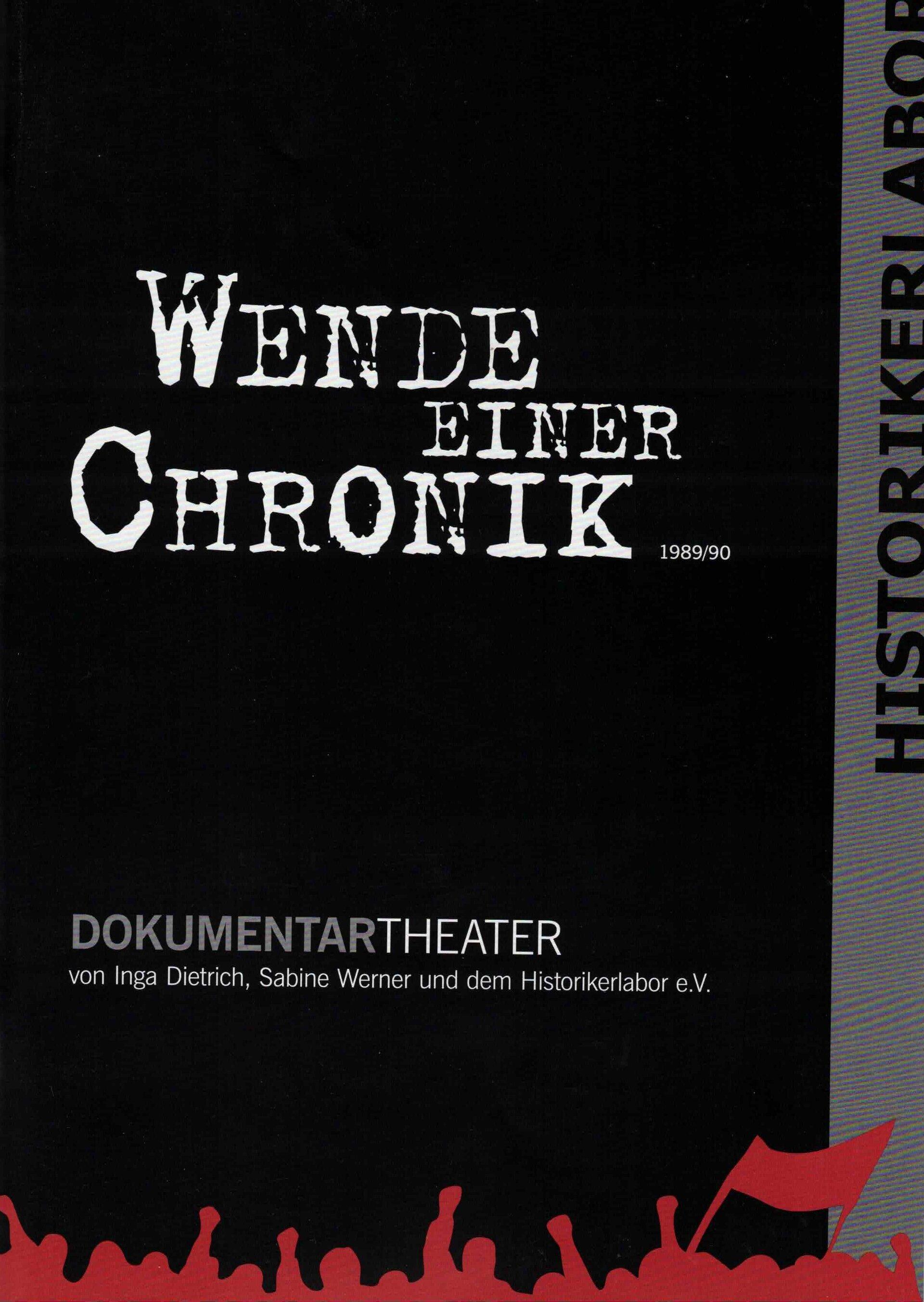 """Programmheft """"Wende einer Chronik"""""""