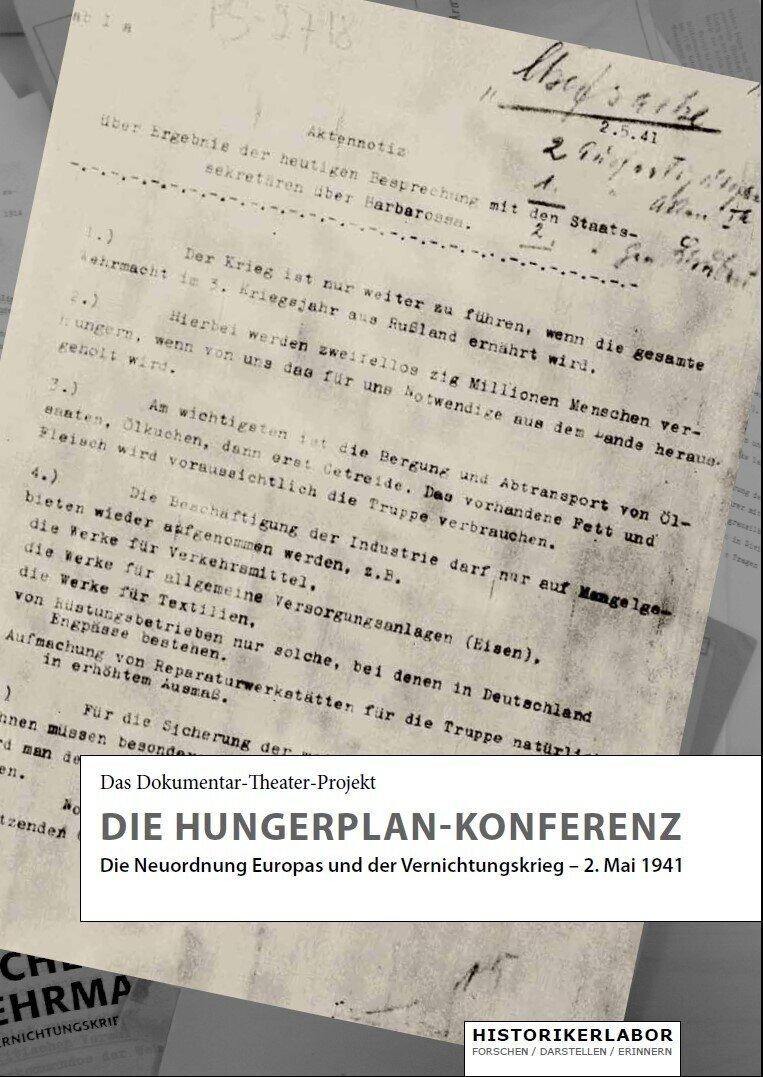 """Programmheft """"Die Hungerplan-Konferenz"""""""