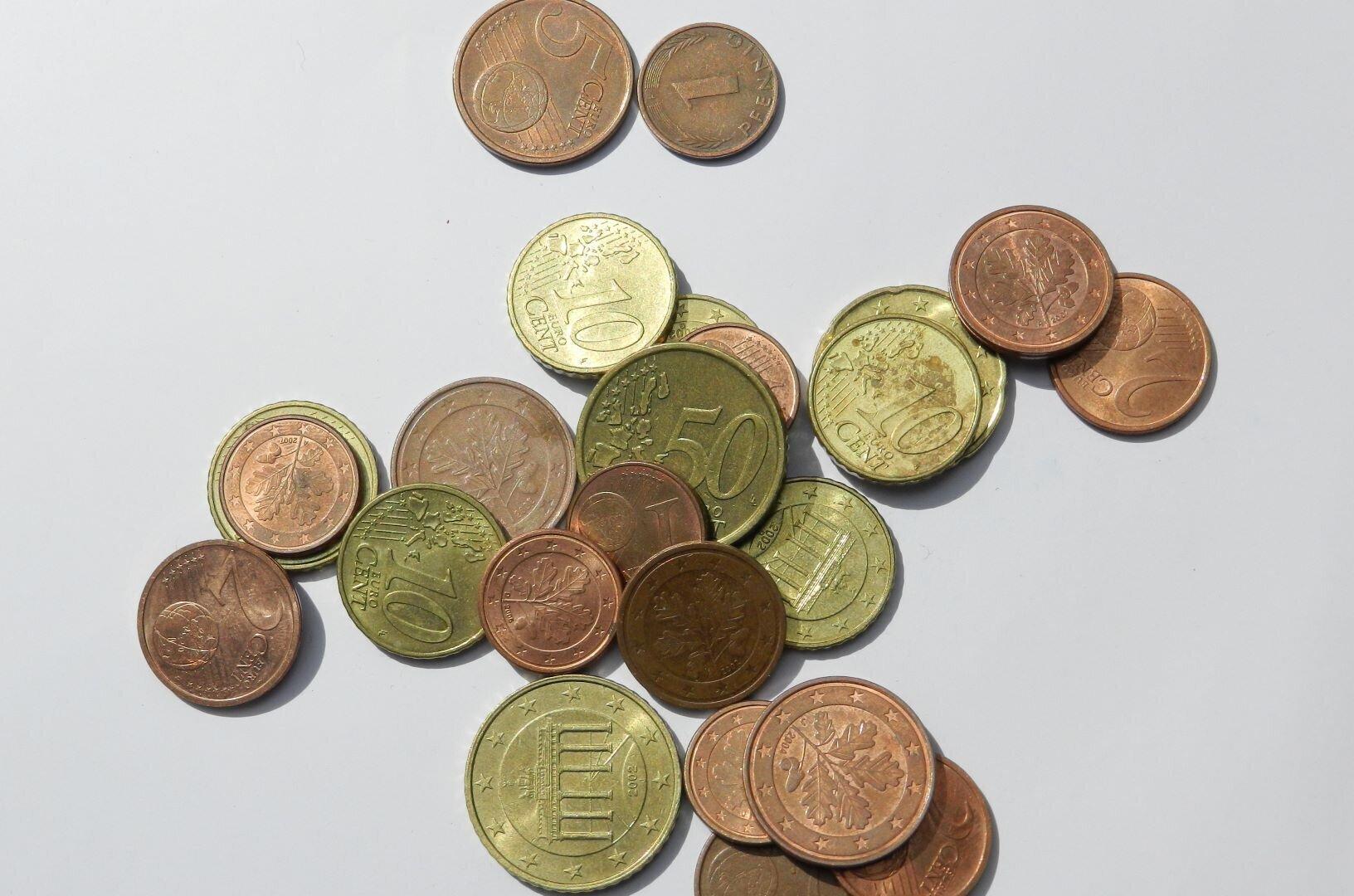 Unser Bild zeigt Kleingeld, welches symbolisch für den Verfügungsfonds stehen soll.