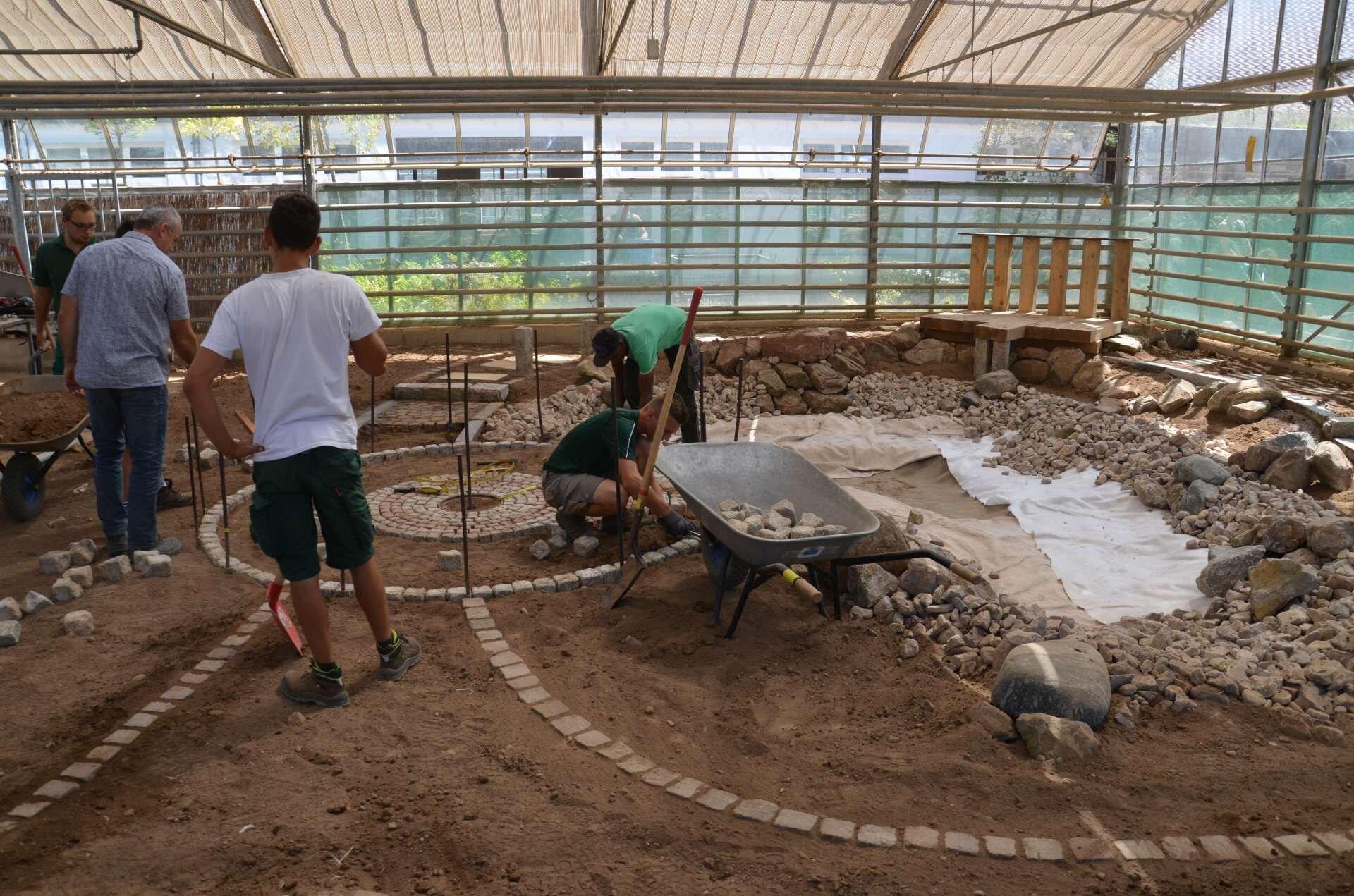Bau einer Wasseranlage