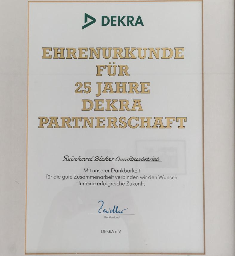 Urkunde Dekra