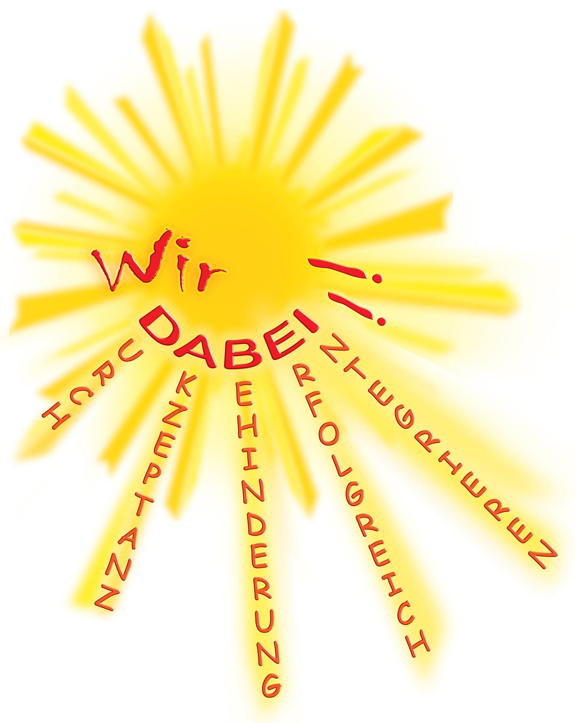 Auf dem Bild sieht man das Vereinslogo von Wir DABEI! e. V.