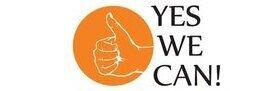 """Auf dem Bild sieht man das Logo welches für das """"Yes, we can!""""-Programm steht"""