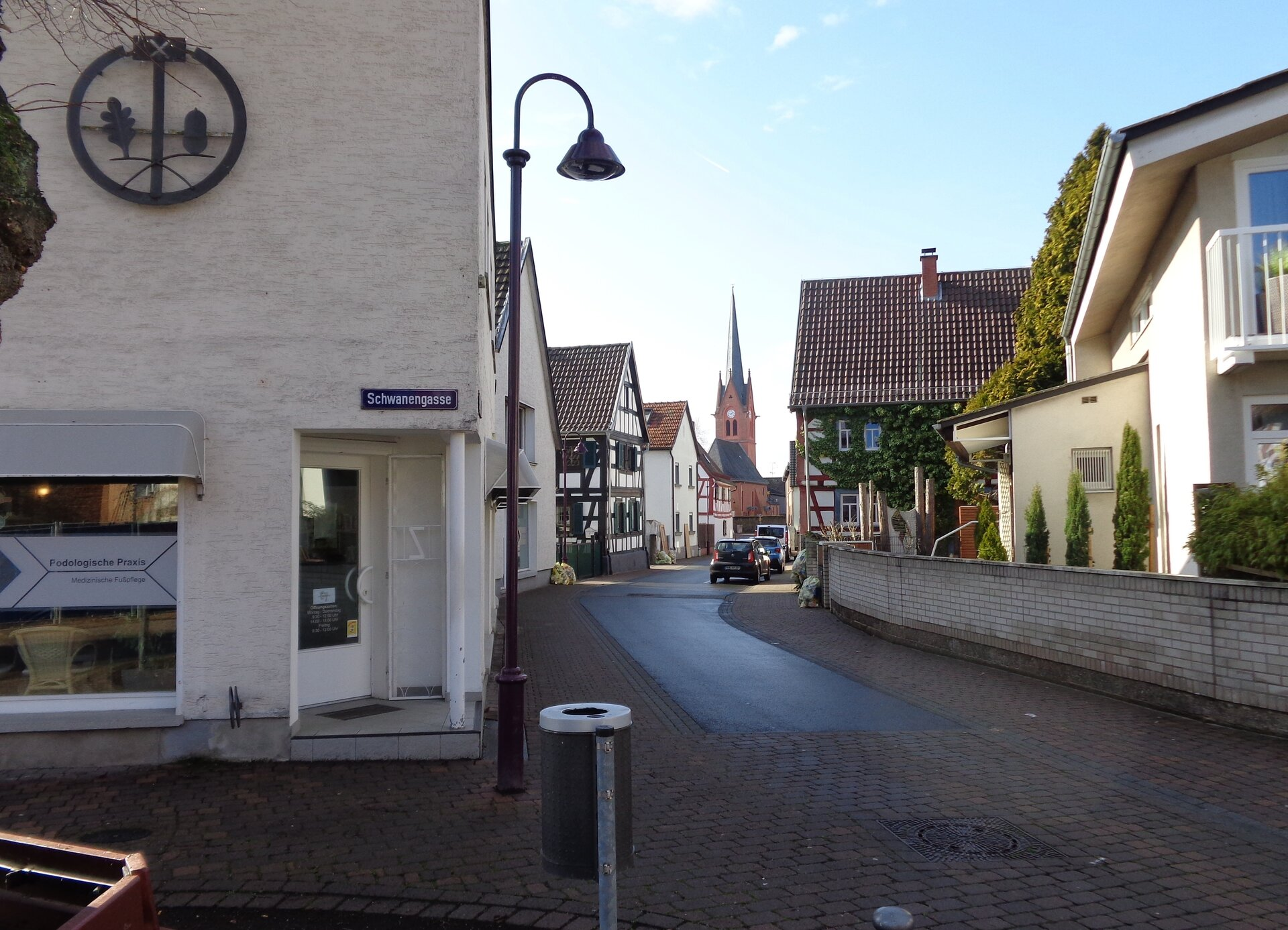 Foto: Stadt Maintal - Schwanengasse in Maintal Dörnigheim