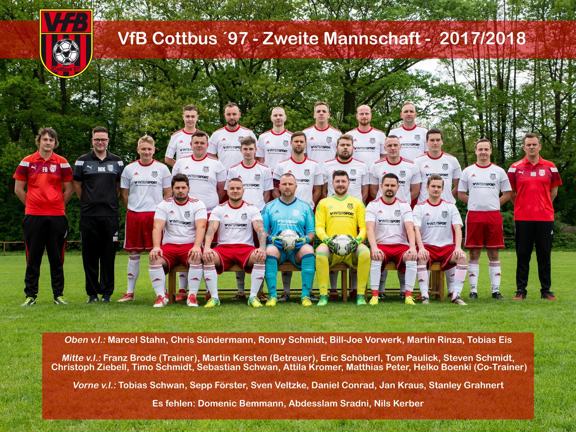 VfB Cottbus ´97 Zweite Mannschaft - 2017/2018