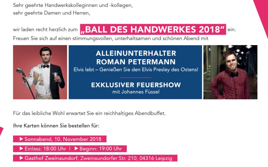 Einladung Ball 2018