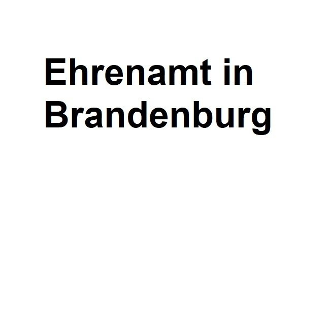 Ehrenamt in Brandenburg