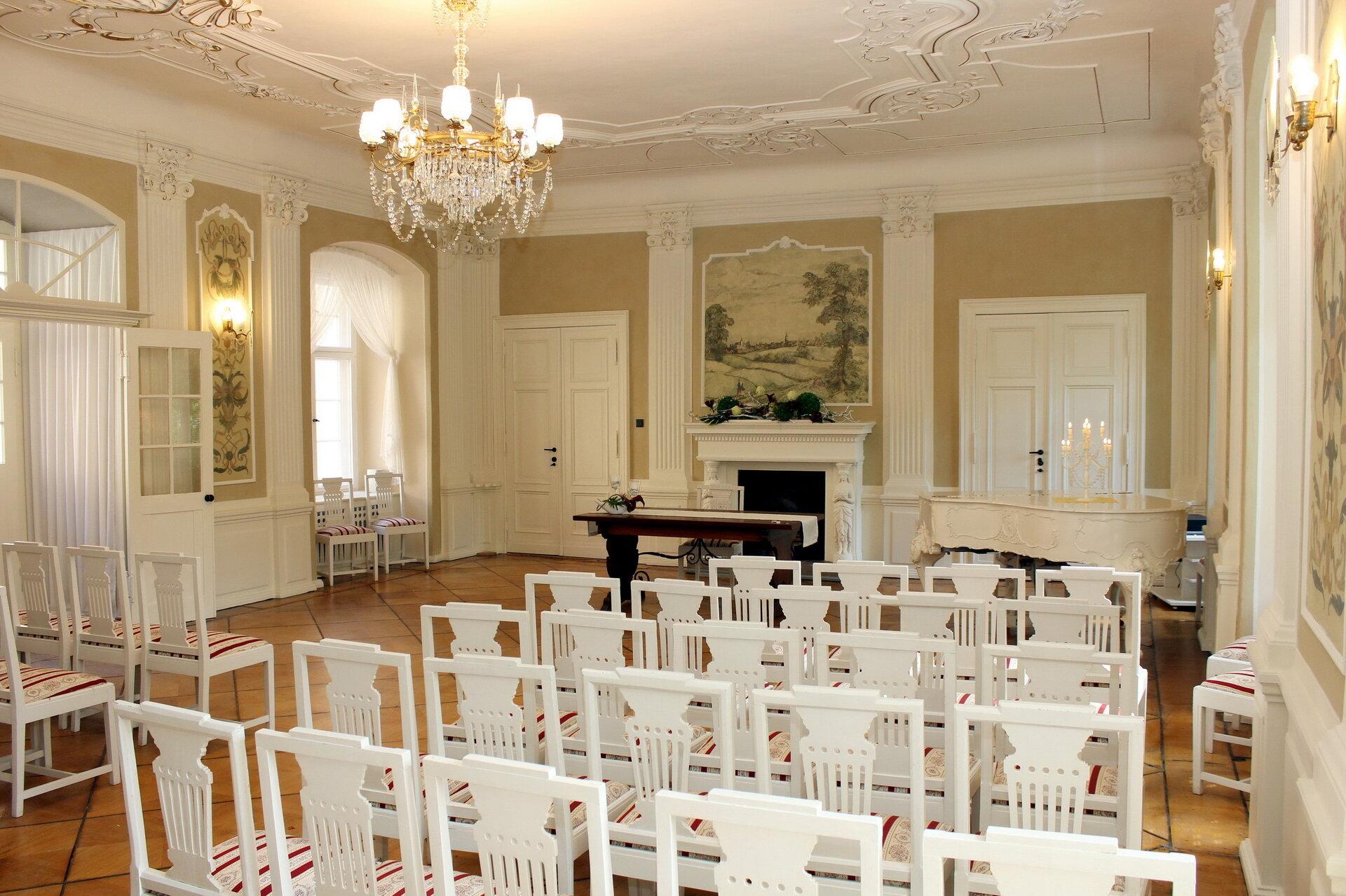 Rittersaal im Stadtschloss Vetschau/Spreewald, Quelle: Stadt Vetschau/Spreewald