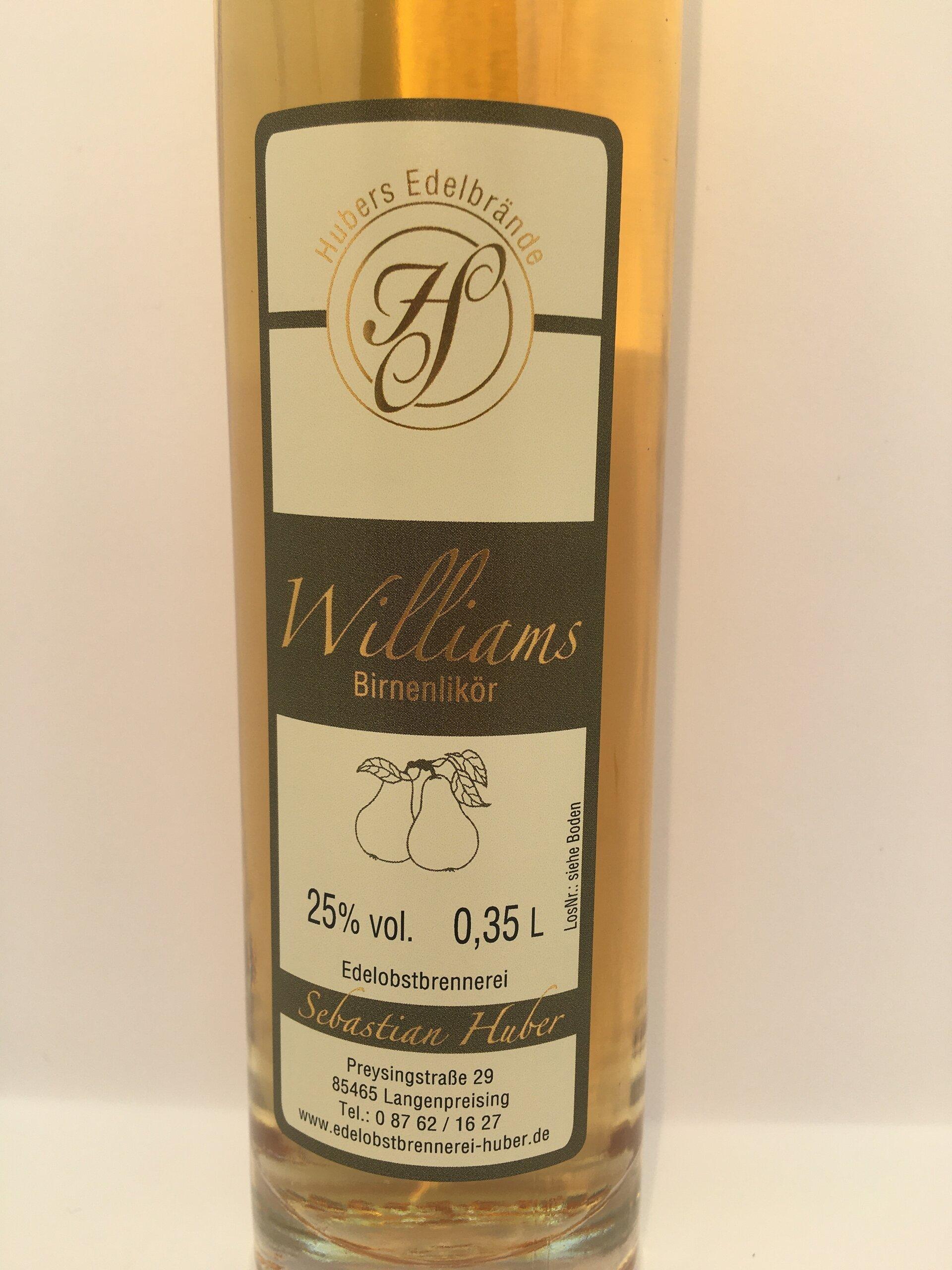 Williams Birnenlikör Etikett