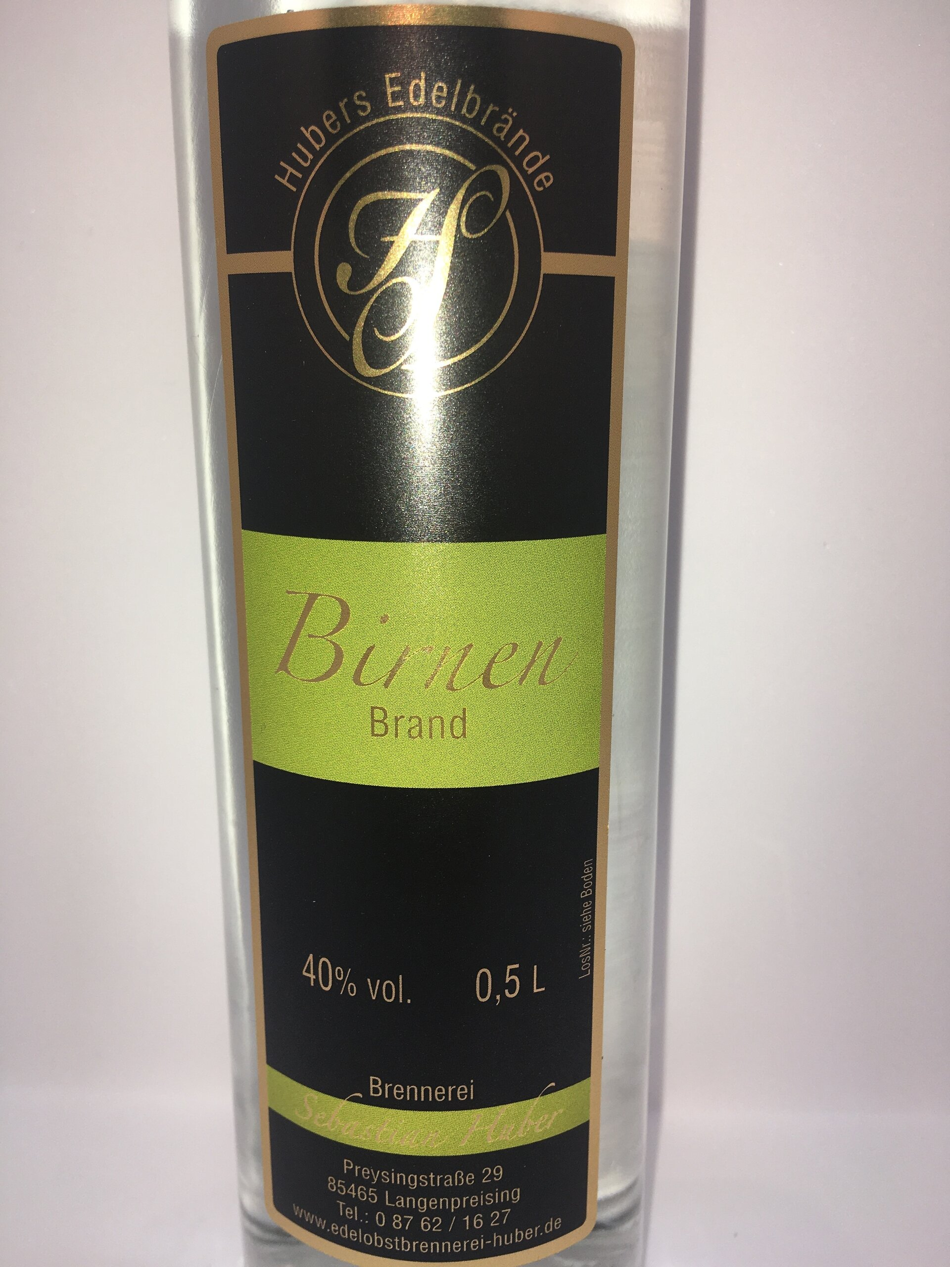 Birnenbrand Etikett