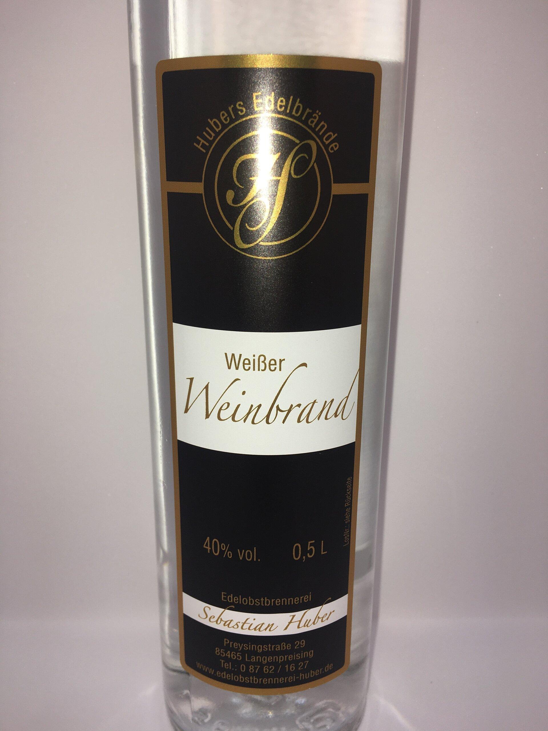 Weißer Weinbrand Etikett