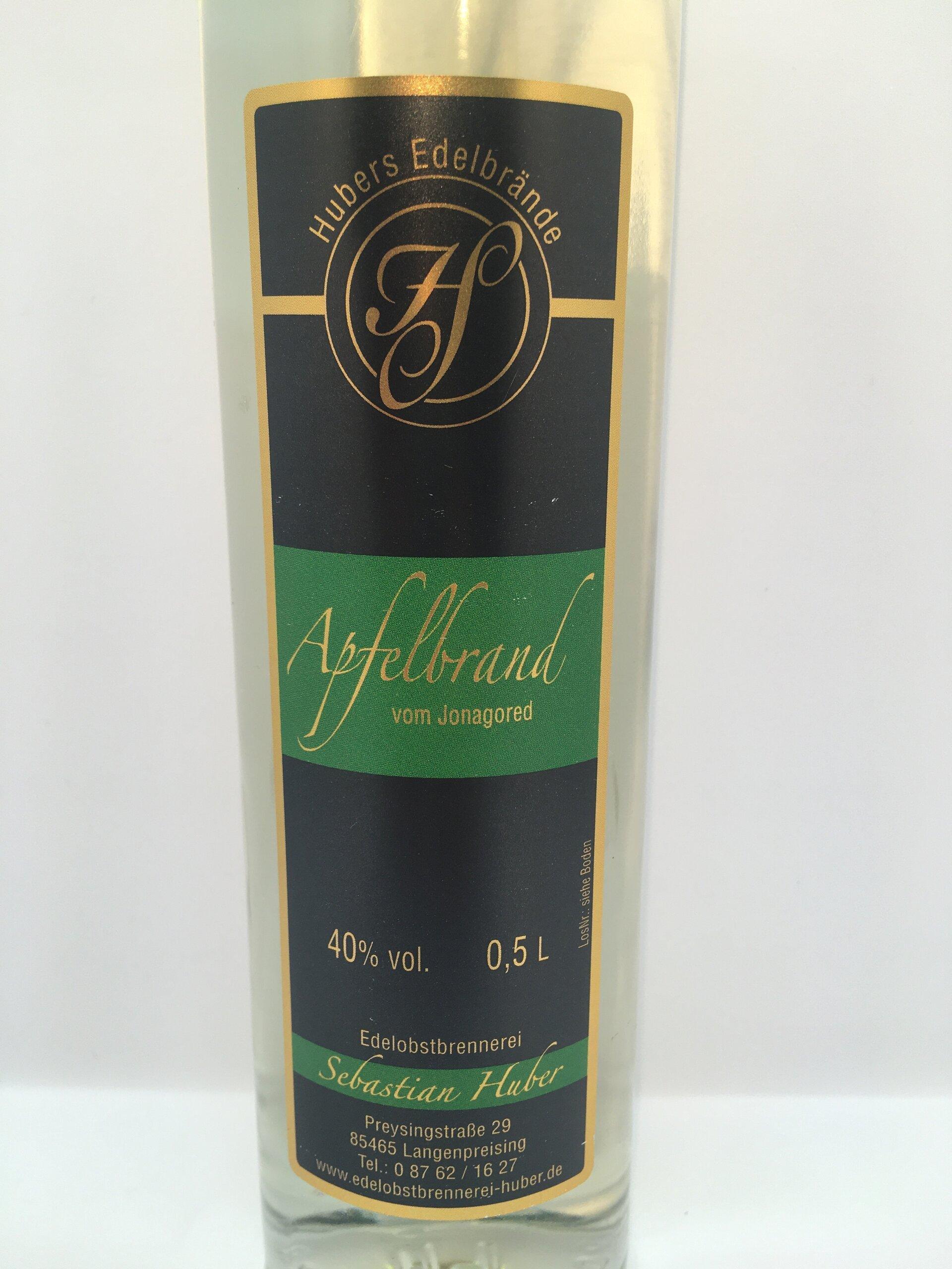 Apfelbrand Jonagored Etikett