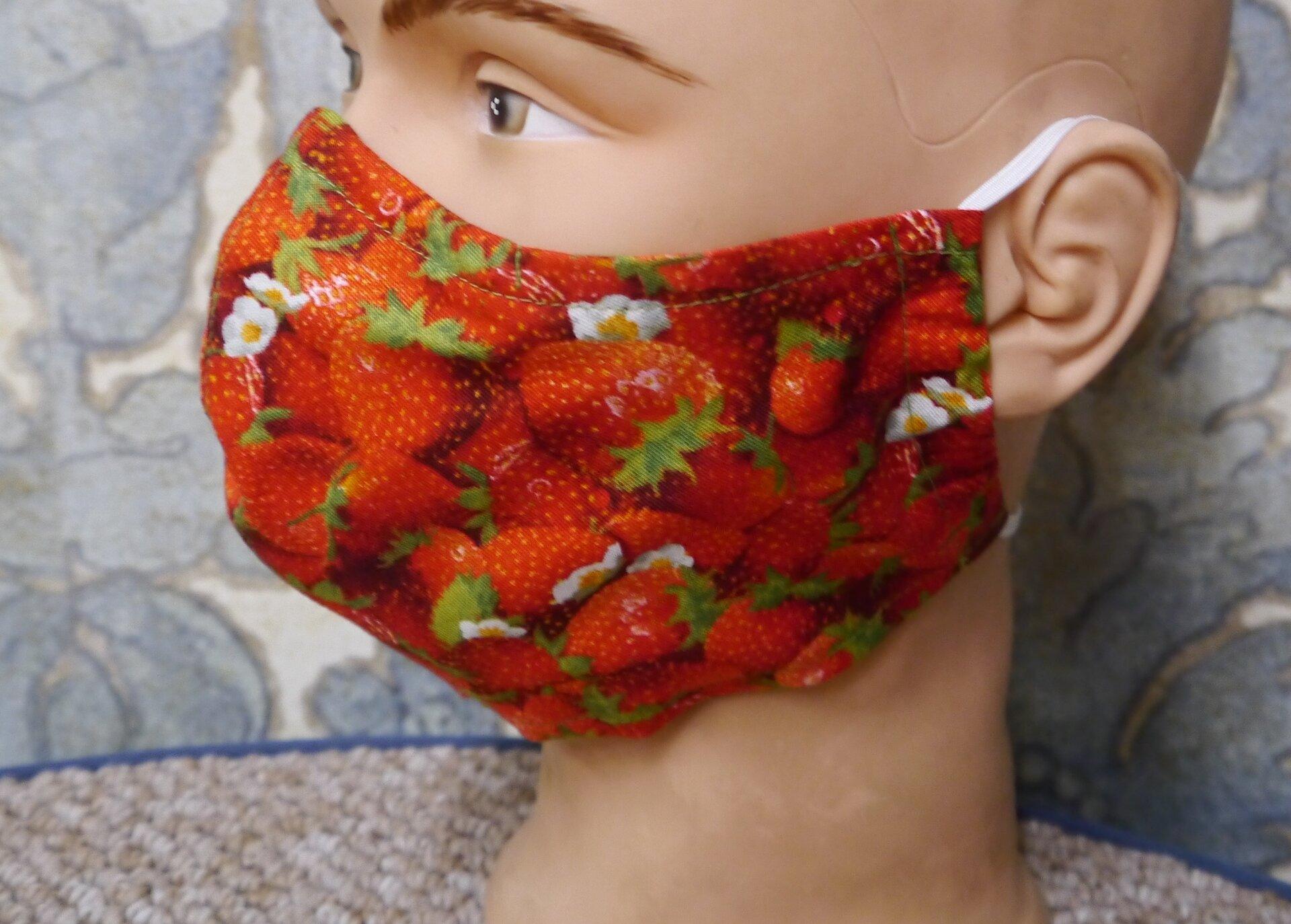 Maske Erdbeere