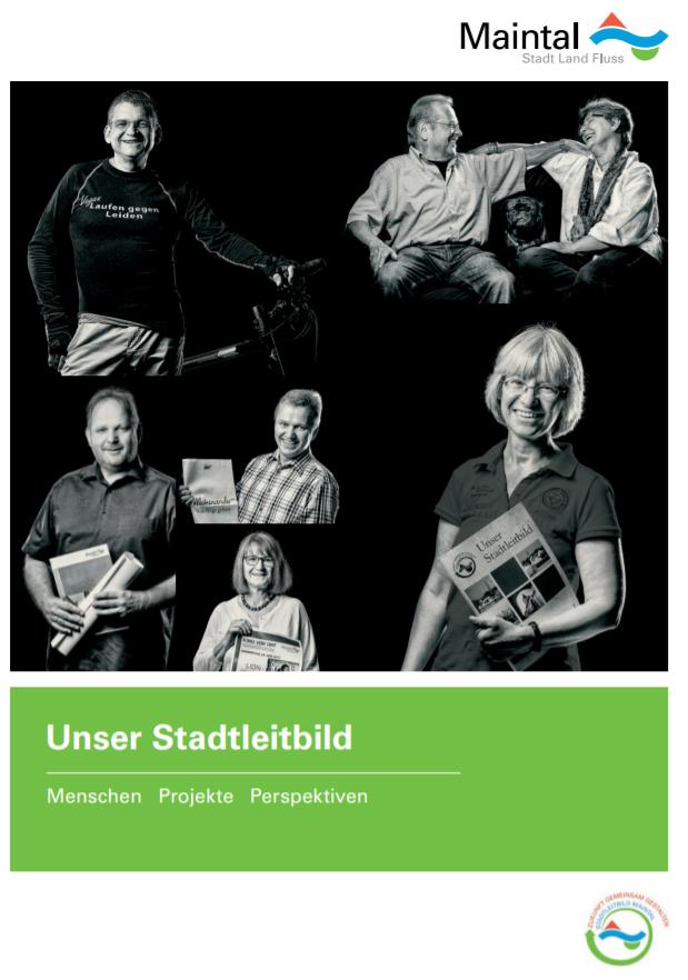 """Link führt zur PDF-Broschüre """"Unser Stadtleitbild"""" der Maintal Aktiv - Freiwilligenagentur"""