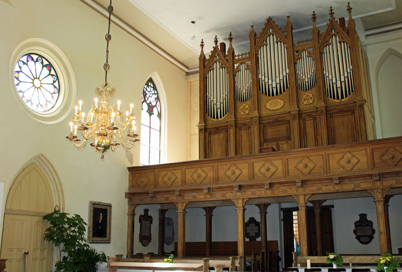 Orgel der Kirche Gristow