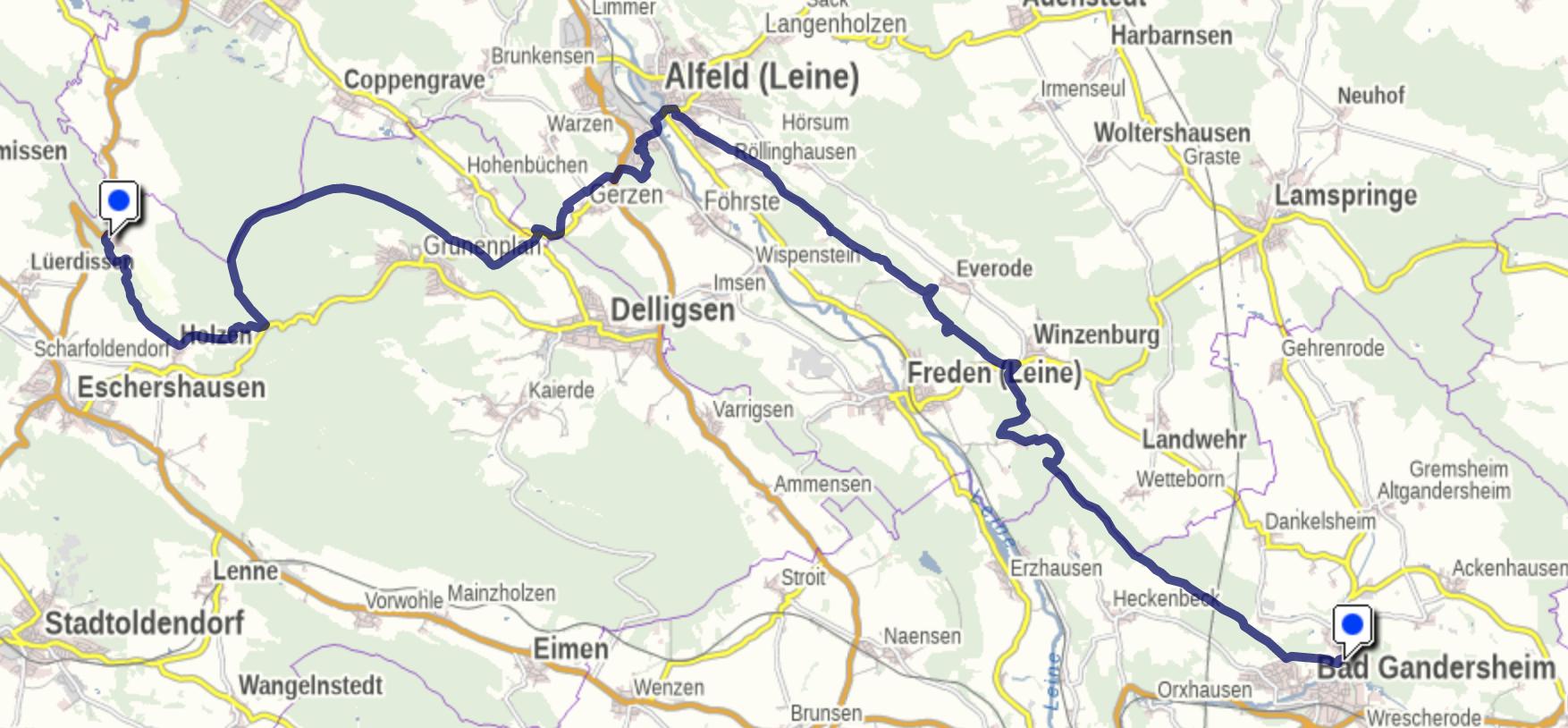 Europaweg ( E 11) X im Leinebergland