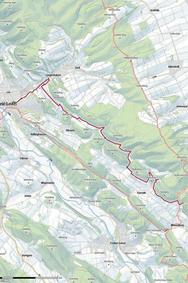 Blauer Hödeken Gewässerschleife Südlicher Sackwald