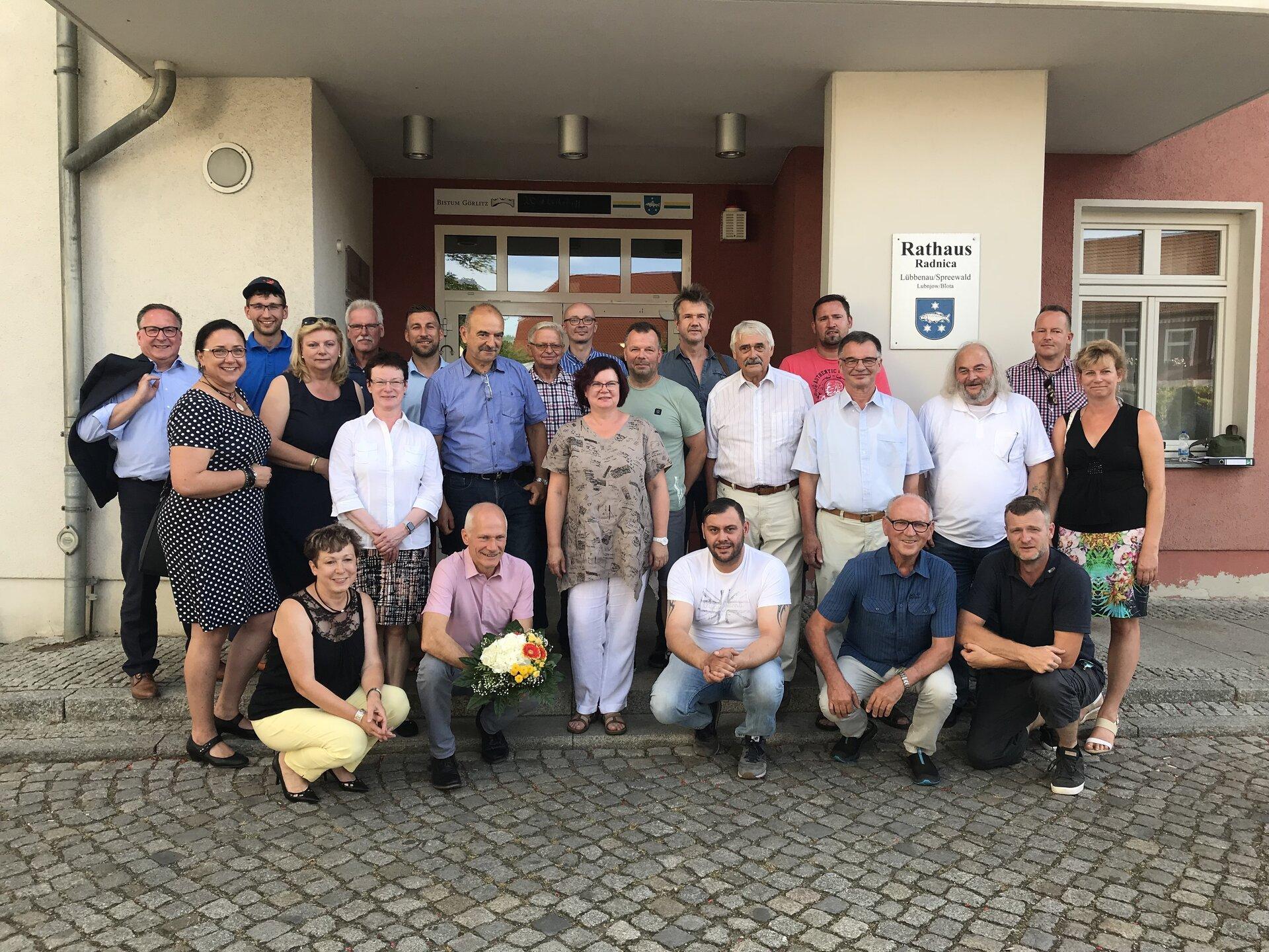 Gruppenbild der Stadtverordnetenversammlung der Stadt Lübbenau/Spreewald im Juni 2019, Foto: Stadt Lübbenau/Spreewald