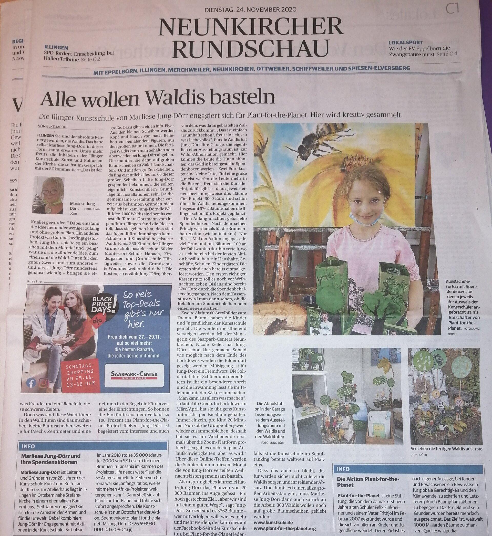 Saarbrücker Zeitung vom 24.11.2020