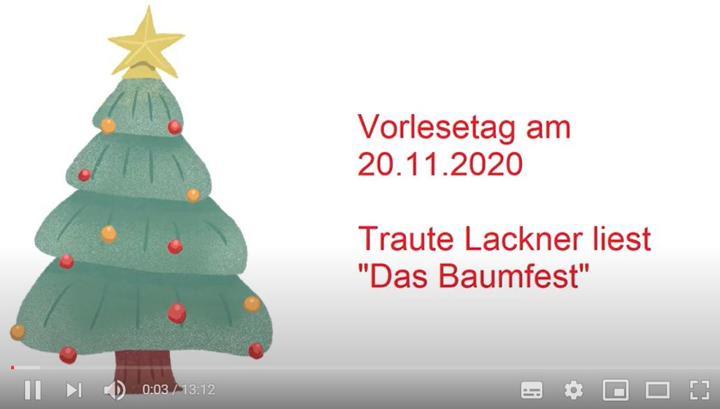 """Externer Link führt zum Vorlese-Video """"Das Baumfest"""" auf youtube"""