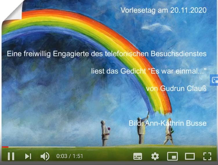"""Externer Link führt zum Vorlese-Video """"Es war einmal"""" auf youtube"""