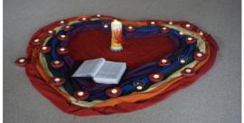 Bodenbilder aus dem Religionsunterricht