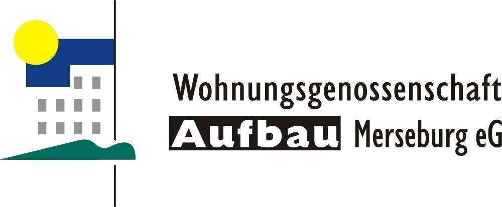 """Logo: Wohnungsgenossenschaft """"Aufbau"""" Merseburg eG"""