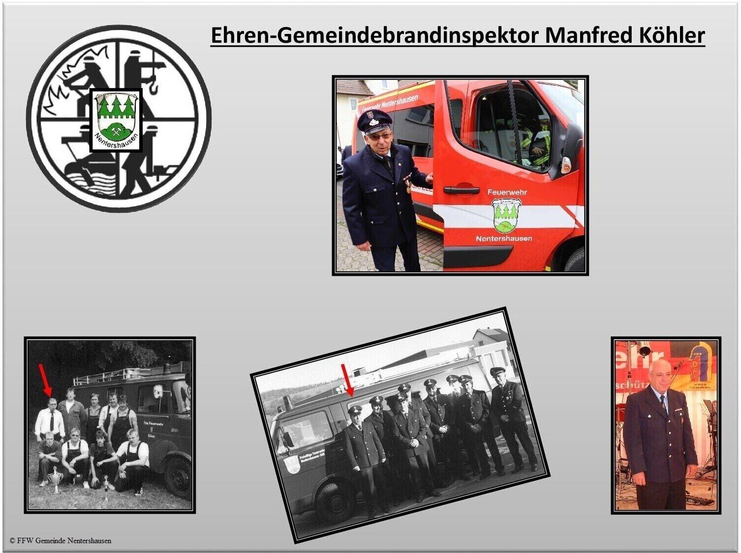 Manfred Köhler neuer Ehren-Gemeindebrandinspektor