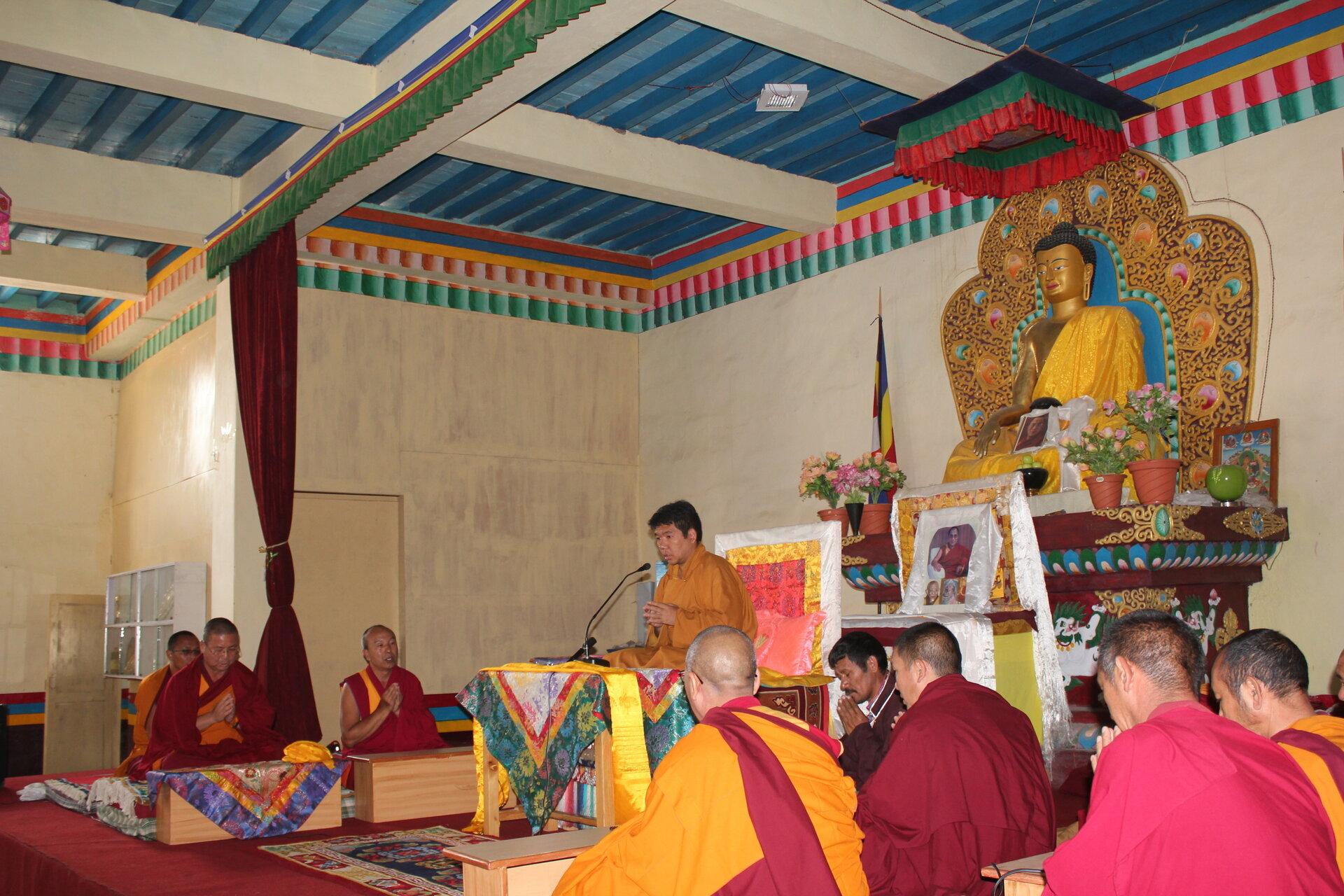 Serkong Tsenshap Rinpoche visiting Serkong School