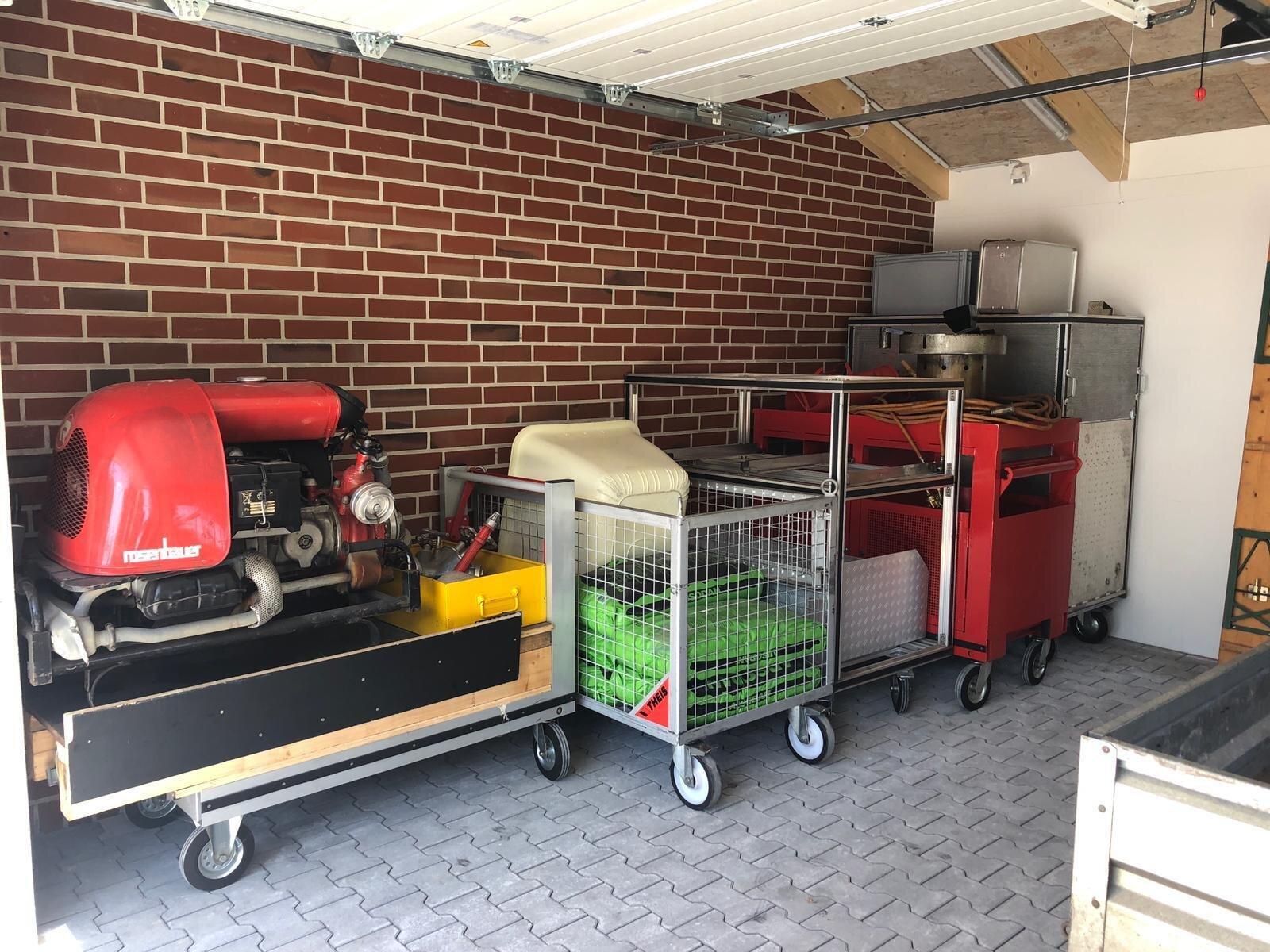 Garagenanbau innen