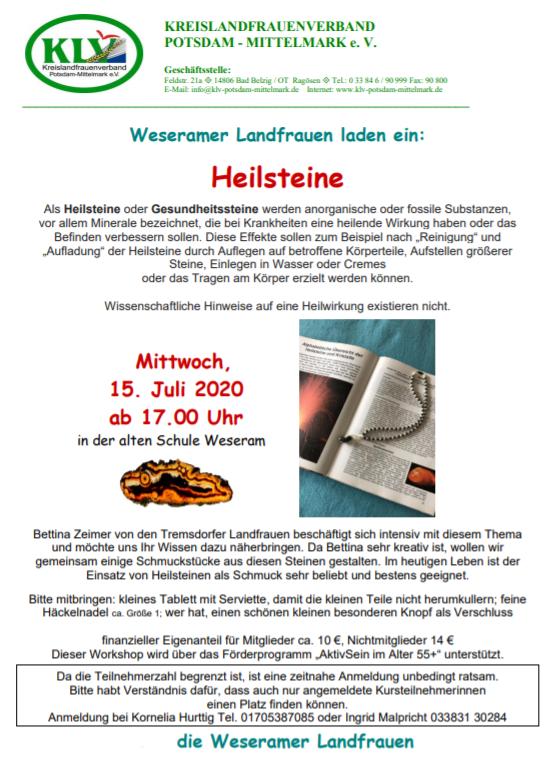Heilsteine 15.06.20202