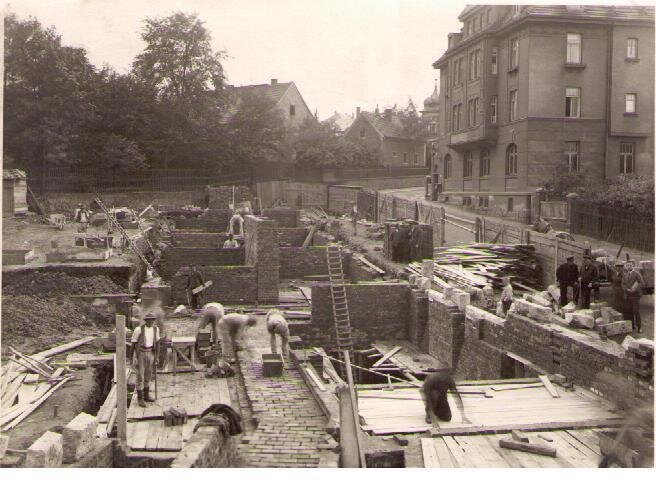 Grundsteinlegung des Rathauses 1927