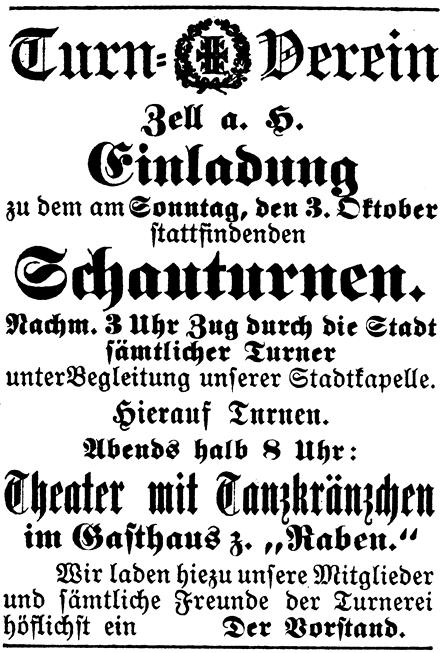 3. Oktober 1897 Schauturnen