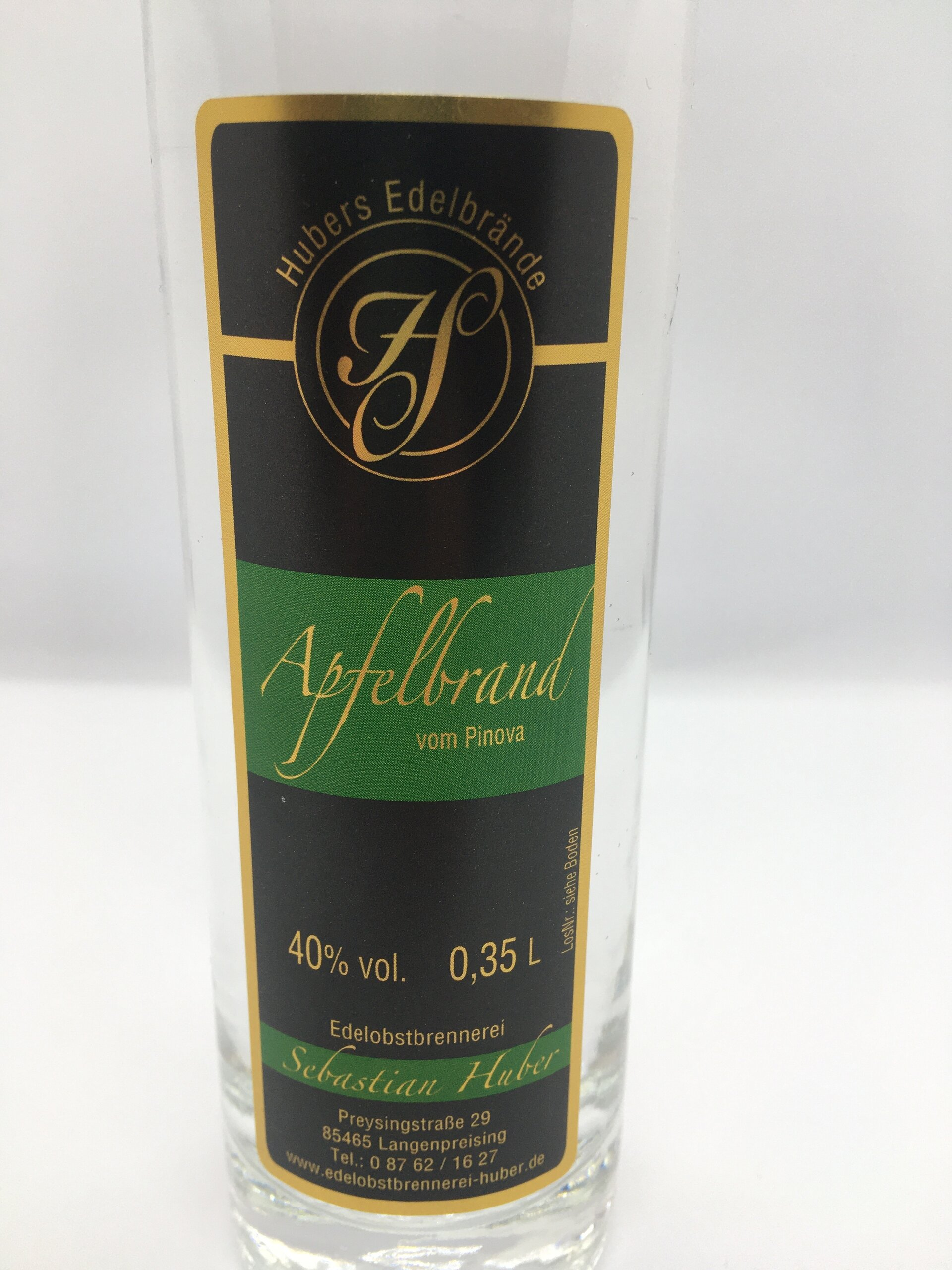 Apfelbrand Pinova Etikett