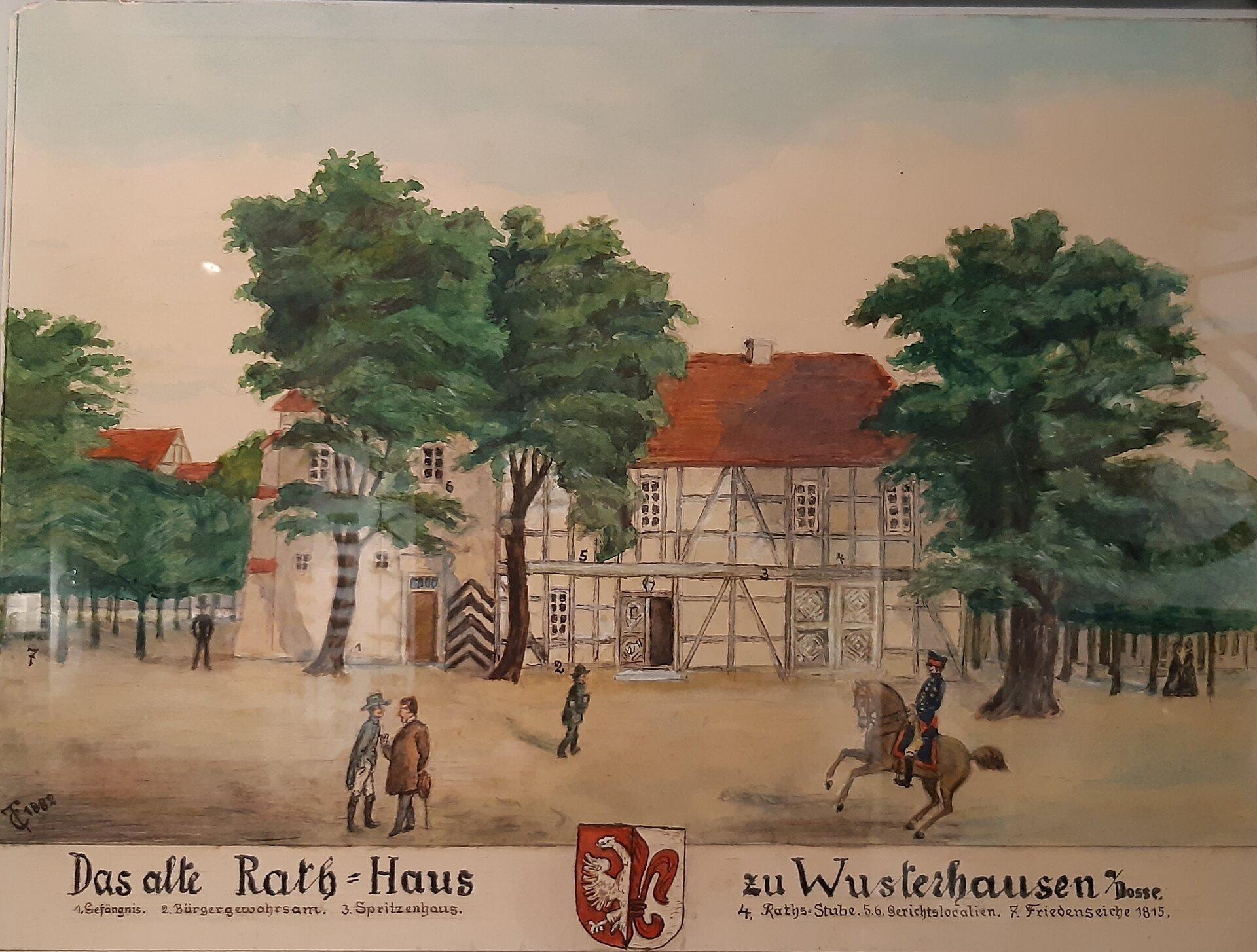 Das alte Rathaus Quelle: Archiv Wegemuseum/ Th. Dombrowski