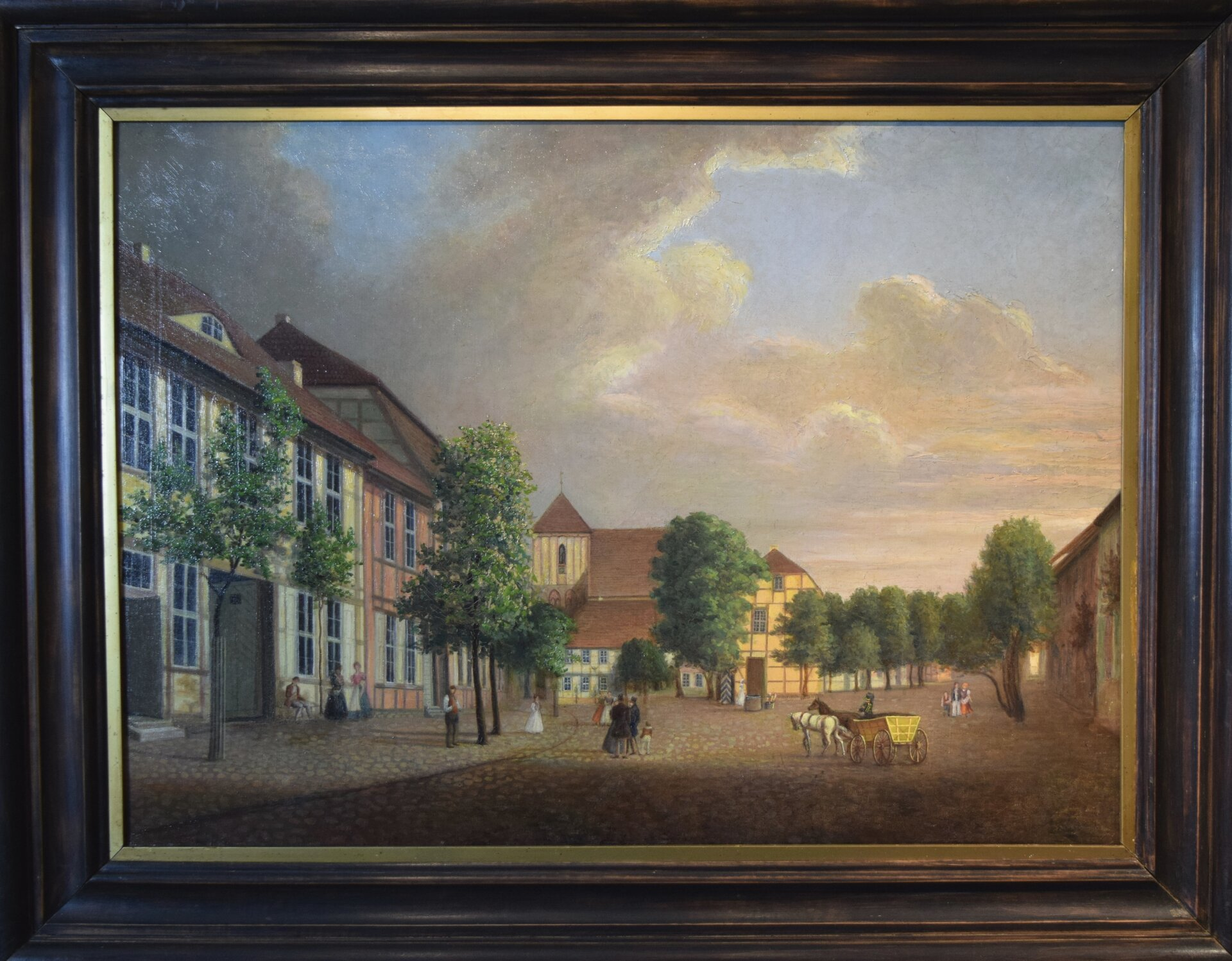 Ansicht des Marktes von 1839, Kopie eines Gemäldes von Wilhelm Barth Foto: Wegemuseum