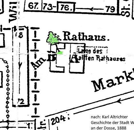 Ausschnitt aus dem Altrichter-Stadtplan Quelle: Archiv Wegemuseum