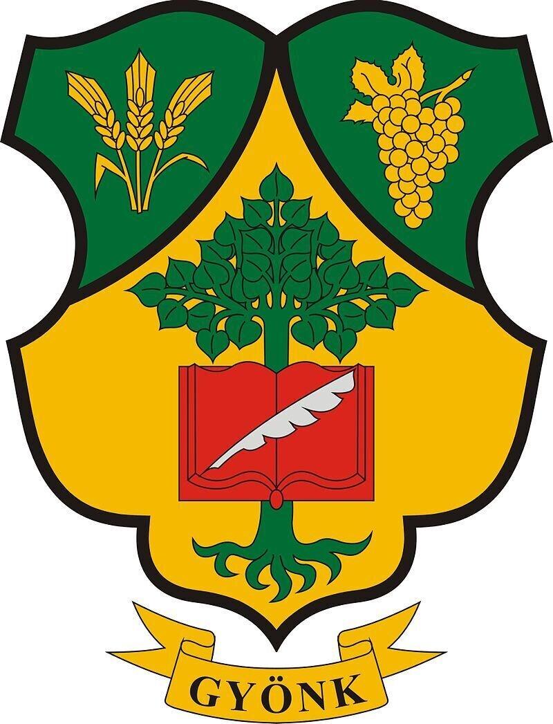 Wappen der Stadt Gyönk (c) Wikipedia