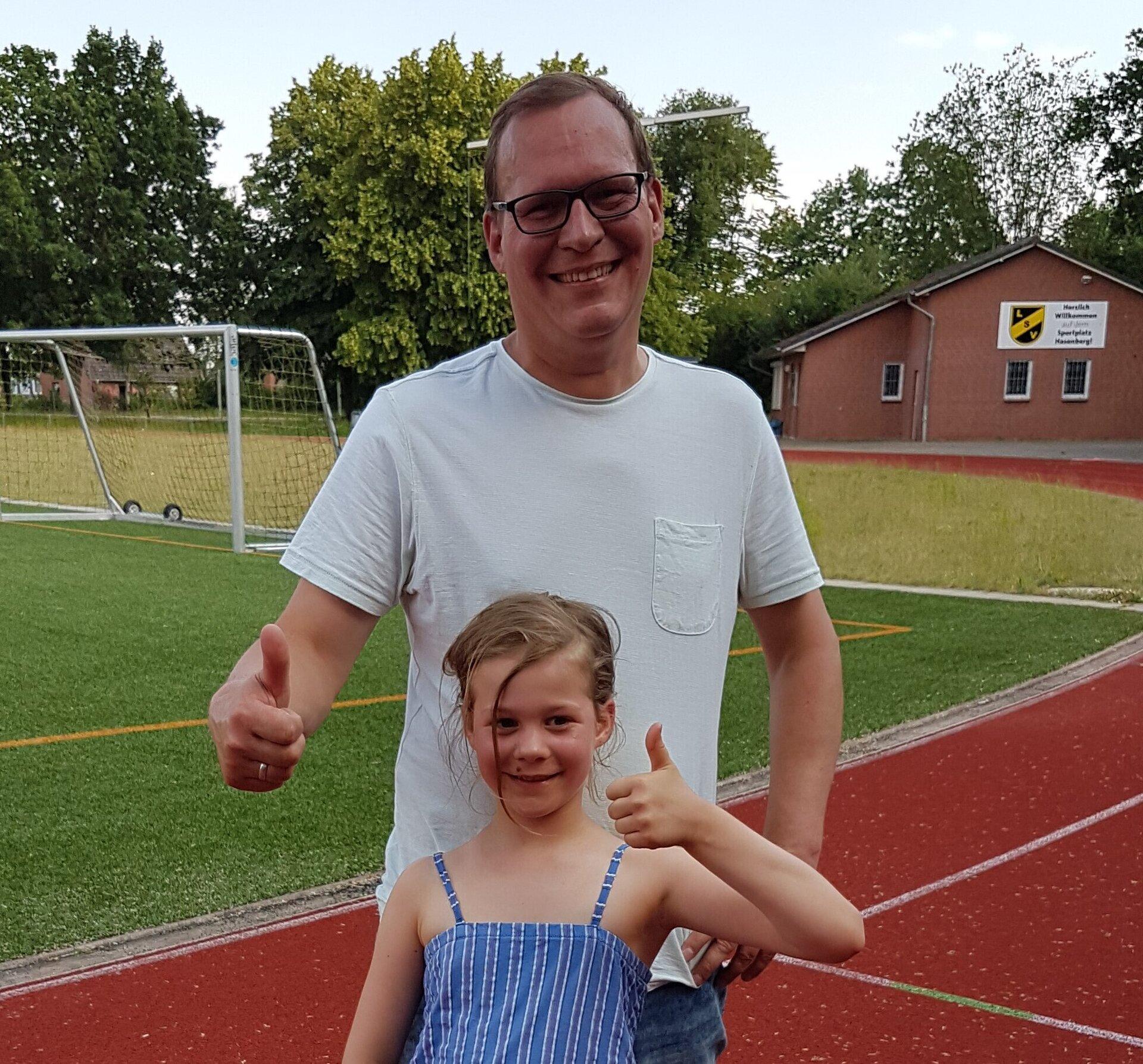 Abnehmer Arwin mit Tochter Greta-Lotte