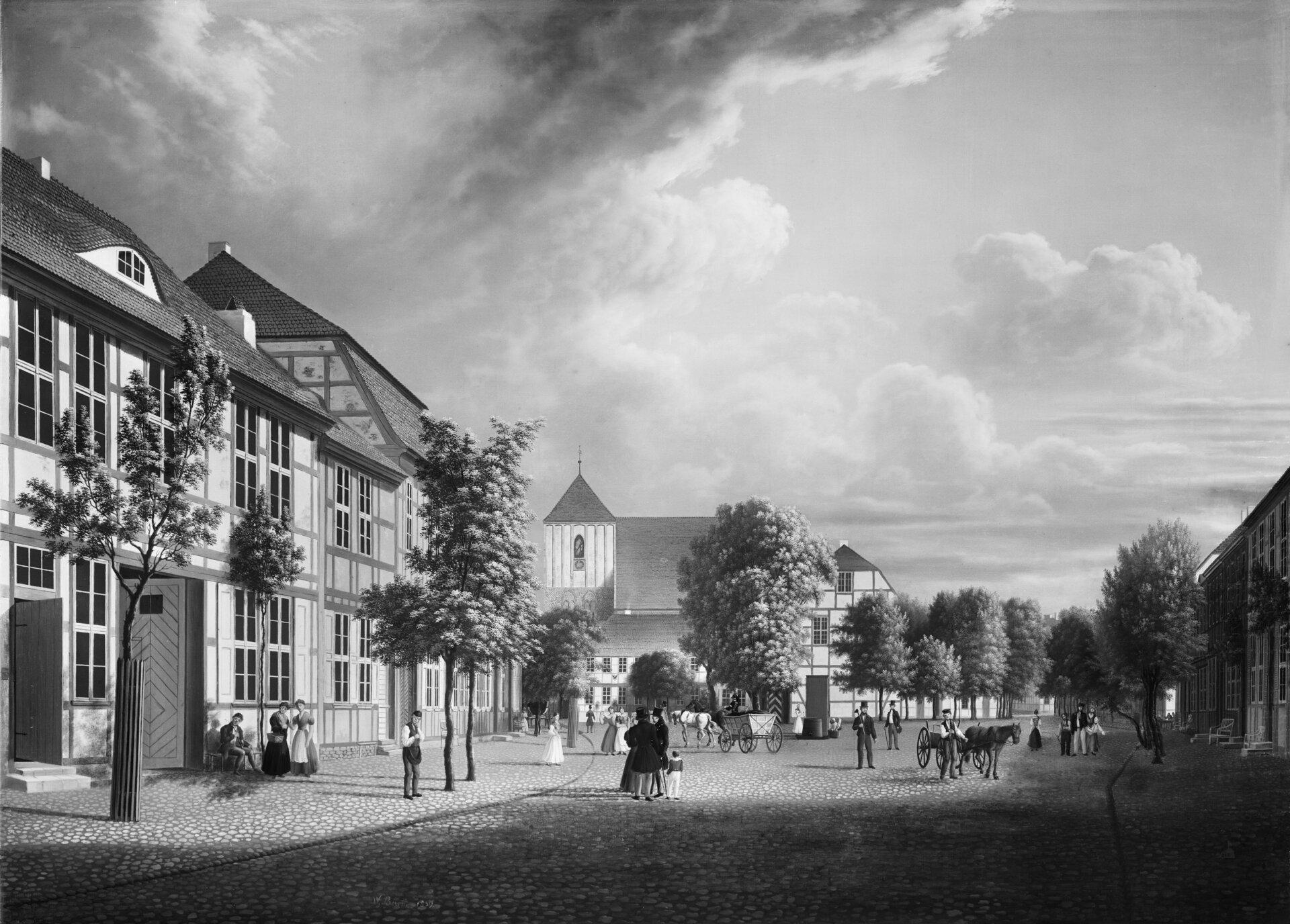 Foto der Stadtvedute von Wilhelm Barth Quelle: Stiftung Preußische Schlösser und Gärten Berlin-Brandenburg