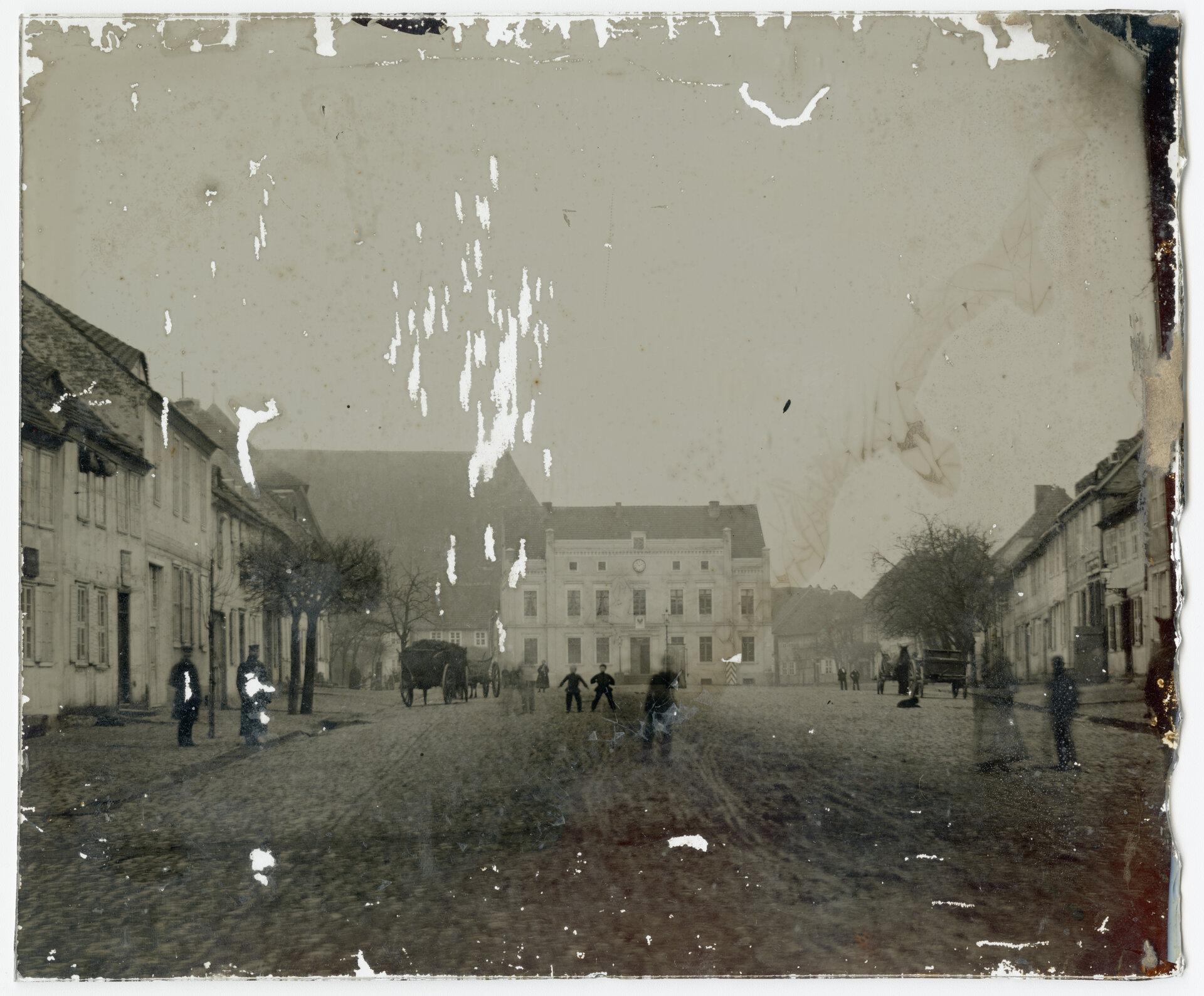 Ambrotypie des Marktplatzes Quelle: Archiv Wegemuseum