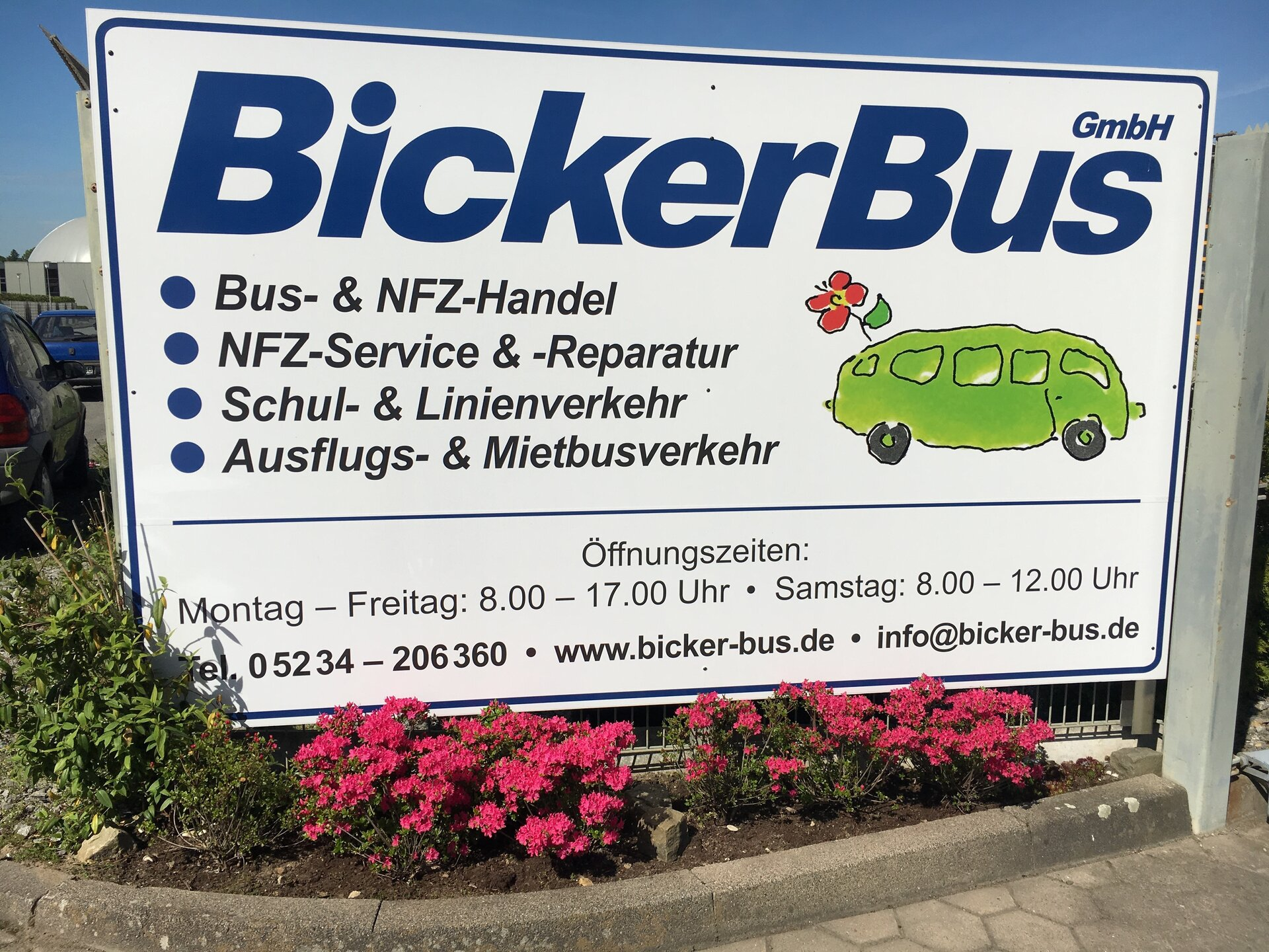 Bicker Firmenschild